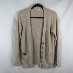 Madewell 100% Cotton Button Front Cardigan